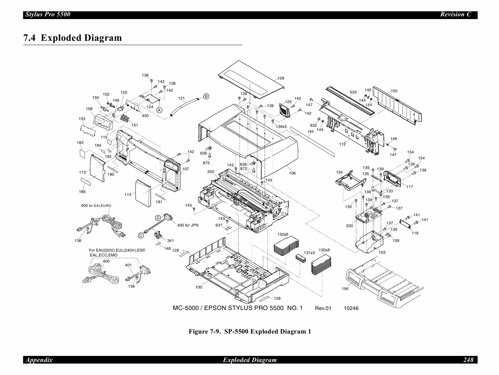 EPSON StylusPro 5500 Parts Manual-5